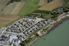 Aerial Vancouver - Richmond shores Stock Photo