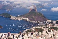 Aerial Veiw of Rio de Janeiro. Beautiful Aerial View of Rio de Janeiro, Brazil Royalty Free Stock Photos