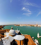 Aerial Venice Stock Photo