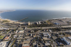 Aerial of Ventura Coast in Southern California Stock Images