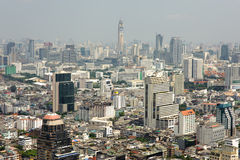 Aerial vew on Bangkok downtown from Leboa hotel Royalty Free Stock Photo