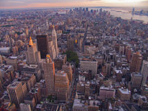 Aerial vew of New York City, USA Stock Photo