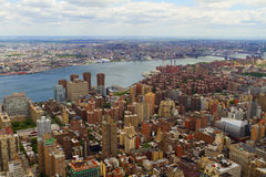 Aerial vew of New York City, USA Royalty Free Stock Images