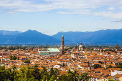 Aerial of Vicenza, Italy, city of architect Palladio. Vicenza, Italy, city of architect Palladio stock photo
