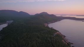 Aerial Maine Acadia National Park July 2017 Sunrise 4K Inspire 2
