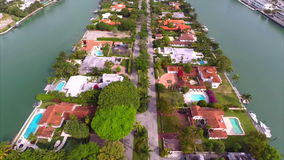 Aerial video Allison Island Miami Beach 2 stock footage