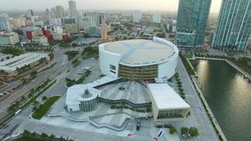 Aerial video American Airlines Arena stock video