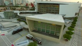 Aerial video American Airlines Arena stock video footage