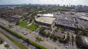 Aerial video Aventura Mall stock video footage