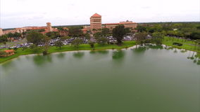 Aerial video Baptist Hospital stock footage