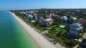 Aerial video Barefoot Beach FL stock video