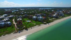 Aerial video Barefoot Beach FL 2 stock video footage