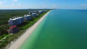 Aerial video Barefoot Beach FL 3 stock footage