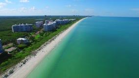 Aerial video Barefoot Beach FL 4 stock footage