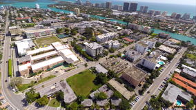 Aerial video Bay Harbour Islands Miami Beach Stock Photography