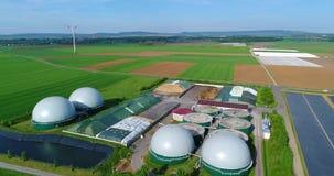 Aerial Video Of Biogas Plant  Flight Over Biogas Power