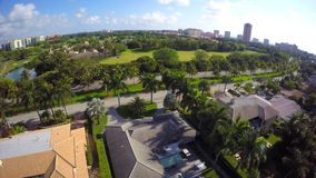 Aerial video of Boca Raton Florida 4k uhd 10 stock video