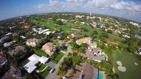 Aerial video of Boca Raton Florida 4k uhd 12 stock video