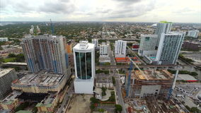 Aerial video Brickell facing west Stock Image