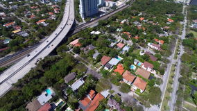 Aerial video of Brickell and I95 Royalty Free Stock Photo