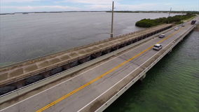 Aerial video bridge Florida Keys Stock Photo