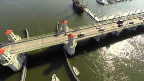 Aerial video Bridge of Lions Royalty Free Stock Photos