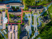 Aerial Video of Building Complex, Campus. Landscape Royalty Free Stock Photography