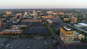 Aerial Video of Camden New Jersey Waterfront.  stock footage