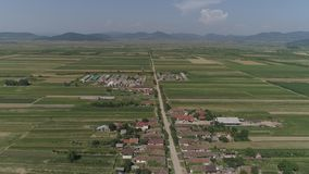 Aerial video of a city in Romania Satu Mare. Shots from the height of bird use stock video