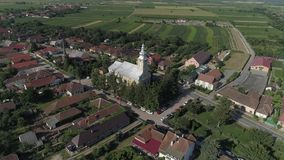 Aerial video of a city in Romania Satu Mare. Shots from the height of bird use stock video footage