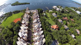 Aerial video Coconut Grove Townhomes stock video