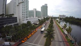 Aerial video Collins Avenue 4k stock video