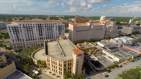 Aerial video Coral Gables Downtown Royalty Free Stock Images