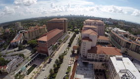 Aerial video Coral Gables Downtown Royalty Free Stock Image