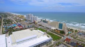 Aerial video of Daytona Beach FL stock footage