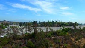Aerial video Dodgers Stadium Los Angeles stock video