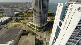 Aerial video of the Doubletree and The Grand Miami