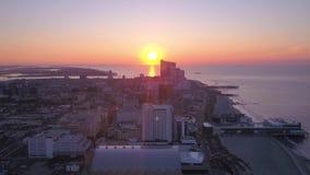 Aerial New Jersey Atlantic City July 2017 Sunrise 4K