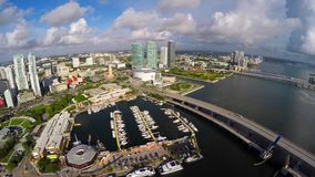 Aerial video Downtown Miami Bayside 4k stock footage