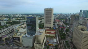 Aerial video Downtown Miami FL stock video