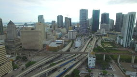 Aerial video Downtown Miami stock video