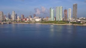 Aerial Florida Miami July 2017 Sunny Day 4K Inspire 2. Aerial video of downtown Miami on a sunny day stock footage