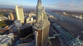 Aerial video Downtown Mobile Alabama 4k