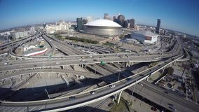 Aerial video downtown New Orleans stock video footage