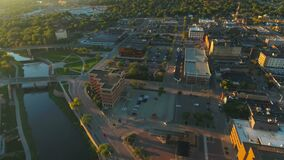 Aerial South Dakota Sioux Falls September 2016 4K