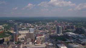 Aerial Connecticut Stamford July 2017 Sunny Day 4K Inspire 2. Aerial video of downtown Stamford and the harbor stock video