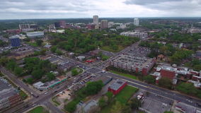 Aerial video of Downtown Tallahassee FL stock footage