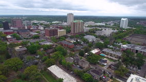 Aerial video of Downtown Tallahassee FL stock video