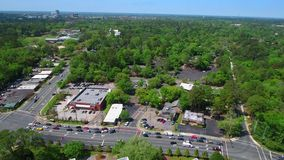 Aerial video of Downtown Tallahassee medical center stock video