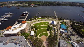 Aerial video Downtown West Palm Beach FL stock footage